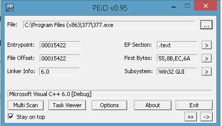 PEiD v77 Analyse